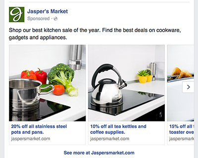 What is a Facebook Carousel Ad