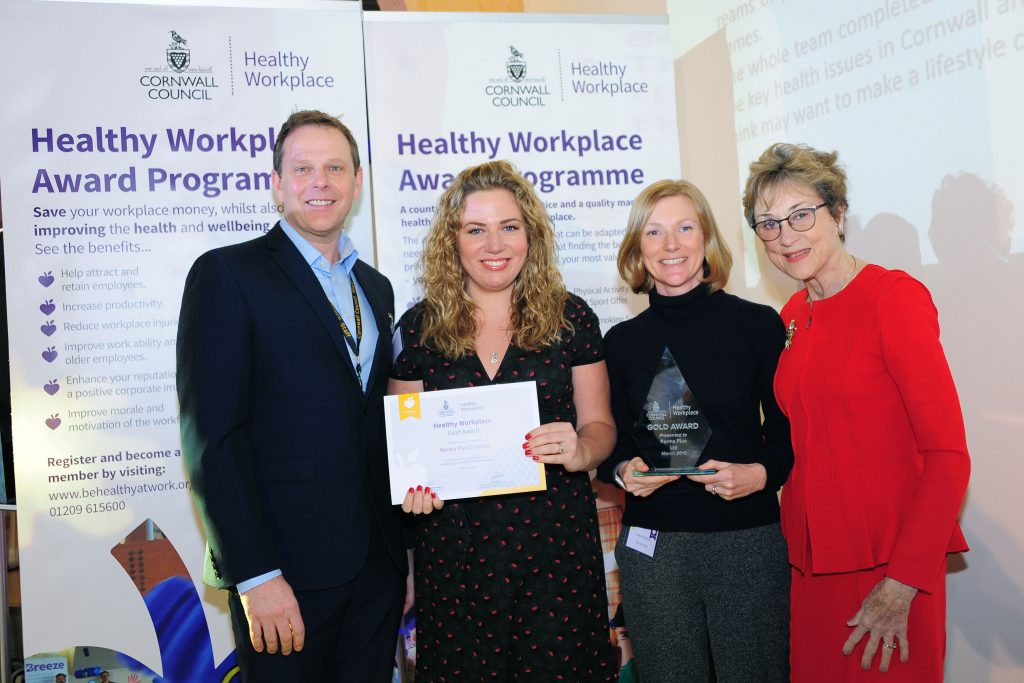 Receiving Our Healthy Workplace Gold Award